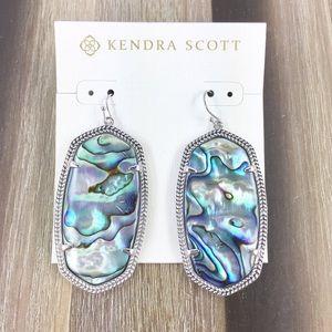 Kendra Scott Danielle abalone silver earrings